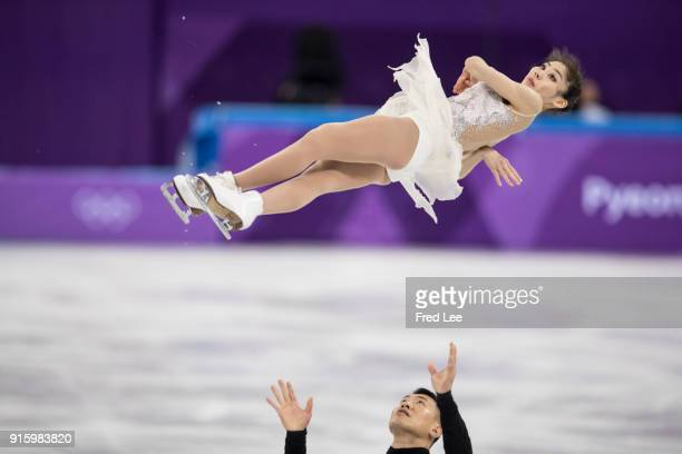 Xiaoyu Yu and Hao Zhang of China compete in the Figure Skating Team Event Pair Skating Short Program during the PyeongChang 2018 Winter Olympic Games...