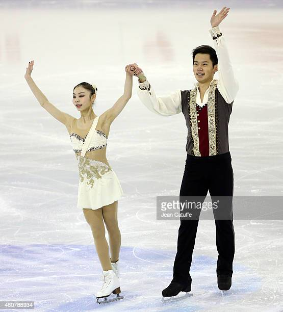 Xiaoyu Yu and Yang Jin of China perform during the Pairs Short Program final on day one of the ISU Grand Prix of Figure Skating Final 2014/2015 at...