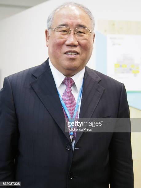 Xie Zhenhua vicechairman of China's top economic development body the National Development and Reform Commission speaking at the United Nations...