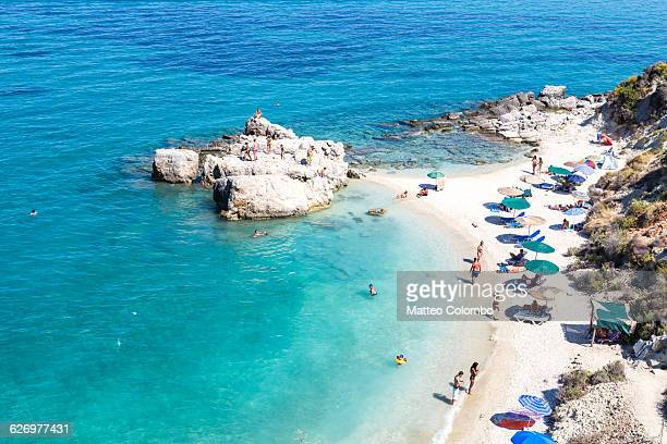 xigia beach in summer, zakynthos, greece - greece stock pictures, royalty-free photos & images