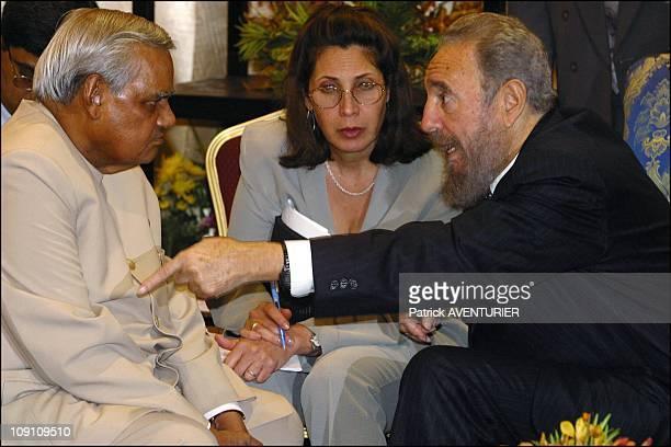 XIIIth Nam Summit'S Ministerial Meeting At Merdeka Hall Pwtc Kuala Lumpur On February 23Th 2003 In Kuala Lumpur Malaysia Indian Prime Minister Atal...
