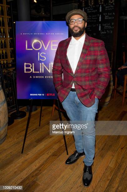 Xilla Valentine attends the Netflix's Love is Blind VIP viewing party at City Winery on February 27 2020 in Atlanta Georgia