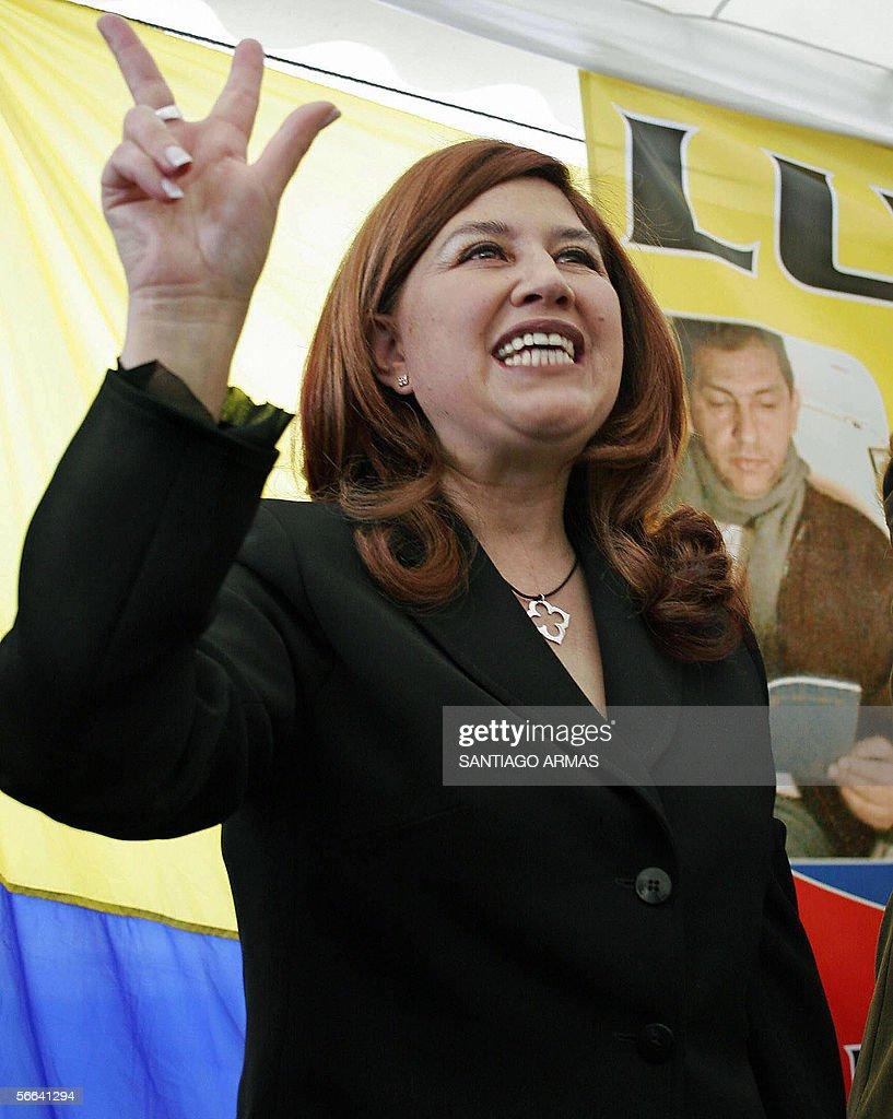 Ximena Bohorquez, esposa del ex presiden : News Photo