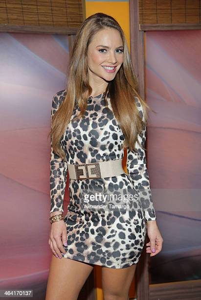 Ximena Cordoba is seen on the set of Univision's Despierta America at Univision Headquarters on January 21 2014 in Miami Florida