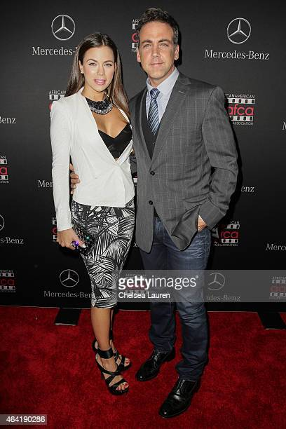 Ximena Duque and actor Carlos Ponce attend MercedesBenz USA and African American Film Critics Association Academy Awards viewing party on February 22...