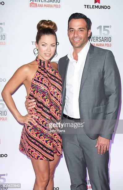 Ximena Duque and her new boyfriend Jay Adkins attend Dra Ana Maria Polo 15th Anniversary Celebration at SLS Miami on September 13 2016 in Miami...