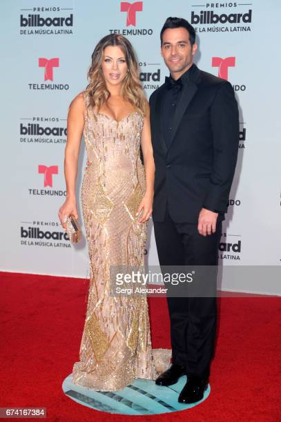 Ximena Duque and Jay Adkins attend the Billboard Latin Music Awards at Watsco Center on April 27 2017 in Coral Gables Florida