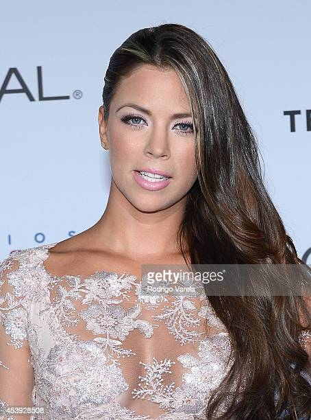 Ximena Duque arrives at Premios Tu Mundo Awards at American Airlines Arena on August 21 2014 in Miami Florida