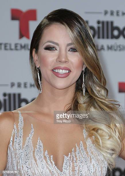 Ximena Duque is seen arriving to the Billboard Latin Music Awards at the Bank United Center on April 28 2016 in Coral Gables Florida