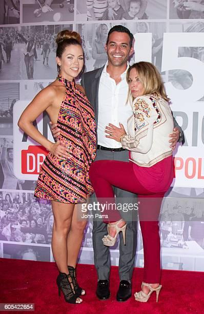 Ximena Duque Jay Adkins and Dra Ana Maria Polo attend Dra Ana Maria Polo 15th Anniversary Celebration at SLS Miami on September 13 2016 in Miami...
