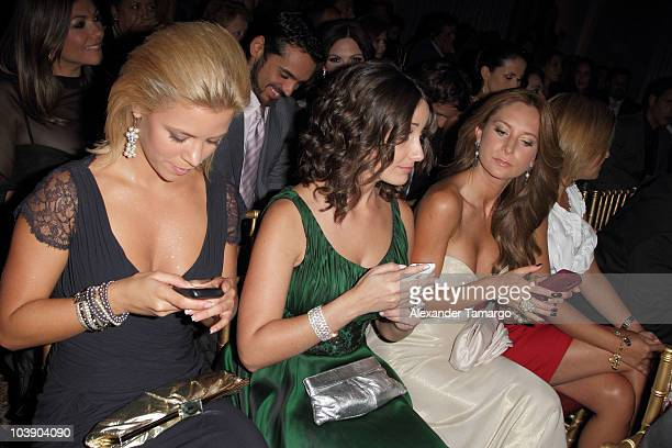Ximena Duque Karla Monroig and Geraldine Bazan attend screening of Telemundo's 'Alguien Te Mira' at The Biltmore Hotel on September 7 2010 in Coral...