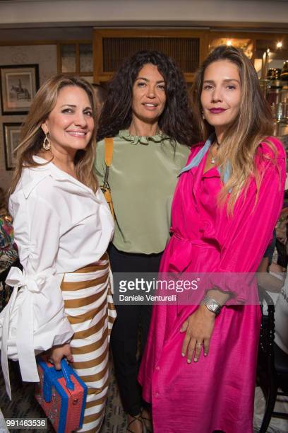 Ximena Kavalekas Afef Jnifen and Margherita Missoni attend Ximena Kavalekas and Margherita Missoni Lunch In Paris During Haute Couture on July 4 2018...