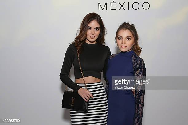 Ximena Navarrete and Sofia Castro attend the first day of MercedesBenz Fashion Week Mexico Spring/Summer 2016 at Campo Marte on October 13 2015 in...