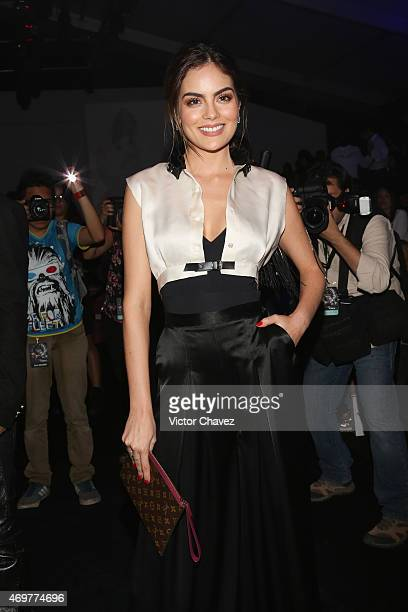 Ximena Navarrete attends the first day of MercedesBenz Fashion Week México Autumn/Winter 2015 at Campo Marte on April 14 2015 in Mexico City Mexico