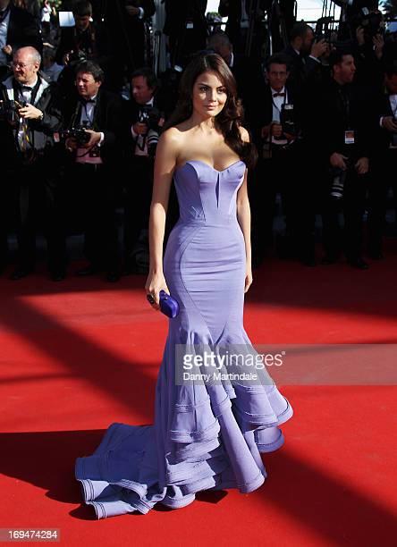 Ximena Navarrete attends the Premiere of 'La Venus A La Fourrure' during the 66th Annual Cannes Film Festival at the Palais des Festivals on May 25...