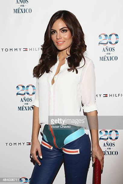 Ximena Navarrete attends the Tommy Hilfiger in México 20th anniversary at ExConvento de San Hipolito on April 10 2014 in Mexico City Mexico