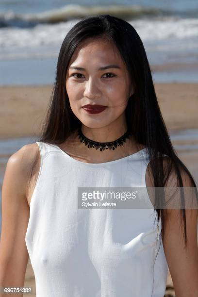 Xin Wang attends 'L'ame du tigre' photocall during 3rd day of the 31st Cabourg Film Festival on June 16 2017 in Cabourg France