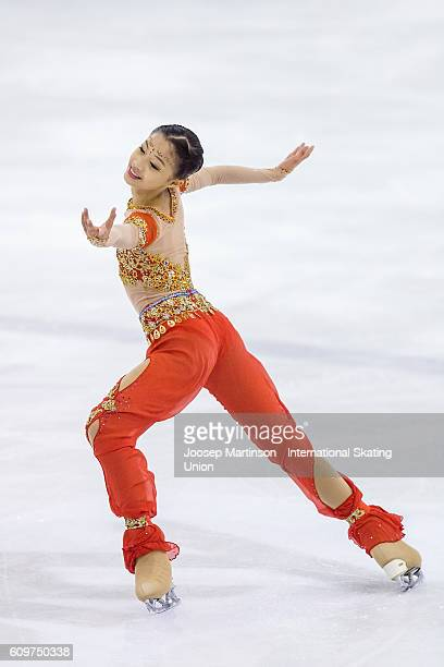 Xin Yi Loke of Singapore competes during the Junior Ladies Short Program on day one of the ISU Junior Grand Prix of Figure Skating on September 22...