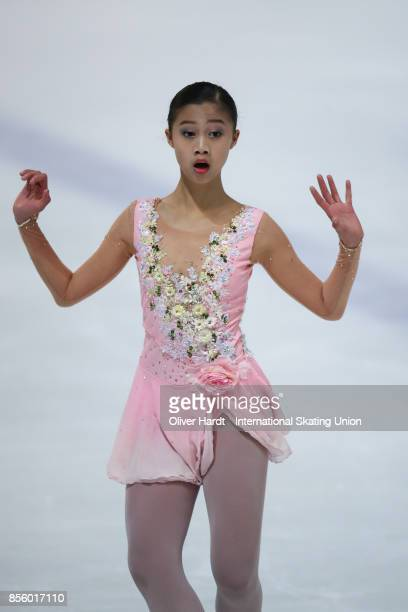 Xin Yi Loke of Singapur performs in the Junior Ladies Free Skating Program during day four of the ISU Junior Grand Prix of Figure Skating at Dom...