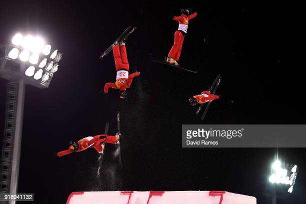 Xin Zhang of China competes during the Freestyle Skiing Ladies' Aerials Final on day seven of the PyeongChang 2018 Winter Olympic Games at Phoenix...