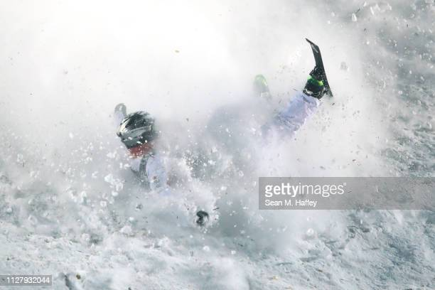 Xindi Wang of China crashes during the Men's Aerials Final at FIS Freestyle Ski World Championships Men's Aerials Final on February 06 2019 at Deer...
