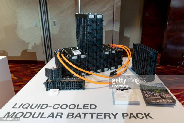 Xing Mobility Inc's modular battery system stands on display in Hong Kong China on Wednesday May 23 2018 Xing Mobility Chief Executive Officer Royce...