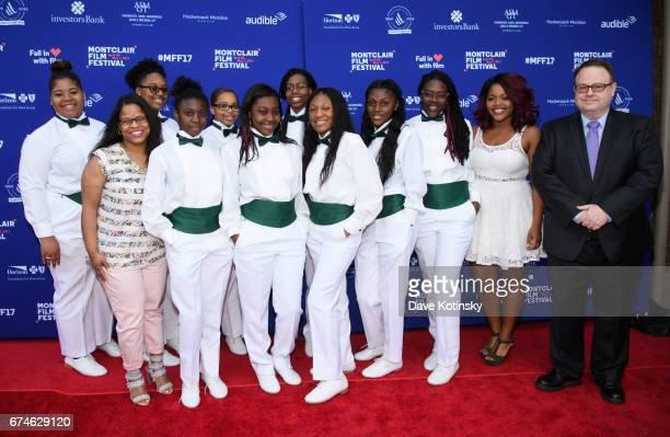 Xinos Step Team and Tom Hall arrive at Montclair Film Festival 2017 Opening Night on April 28 2017 in Montclair New Jersey