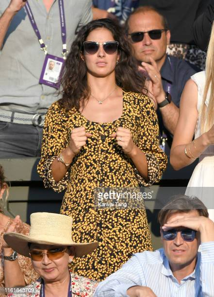 Xisca Perello attends day eleven of the Wimbledon Tennis Championships at All England Lawn Tennis and Croquet Club on July 12, 2019 in London,...
