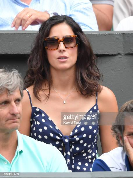 Xisca Perello attends day twelve of the Wimbledon Tennis Championships at the All England Lawn Tennis and Croquet Club on July 14 2018 in London...