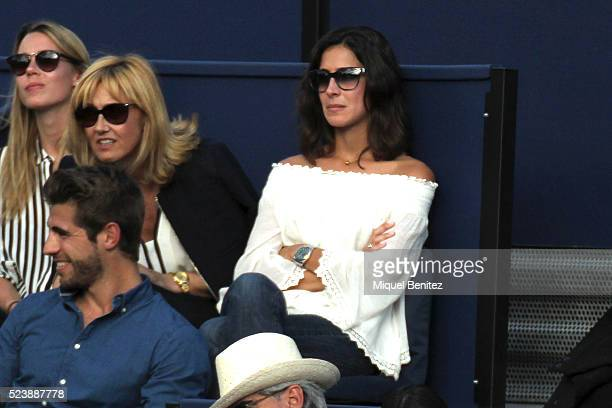 Xisca Perello attends the final between Rafel Nadal match during the Barcelona Open Banc Sabadell at the real Club de Tenis Barcelona 1899 on April...