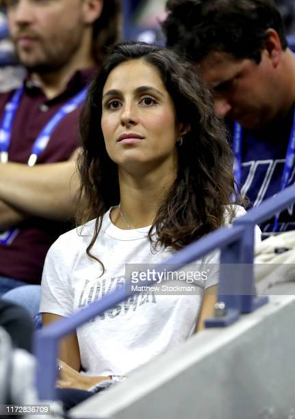 Xisca Perello attends the Men's Singles semifinal match between Rafael Nadal of Spain and Matteo Berrettini of Italy on day twelve of the 2019 US...