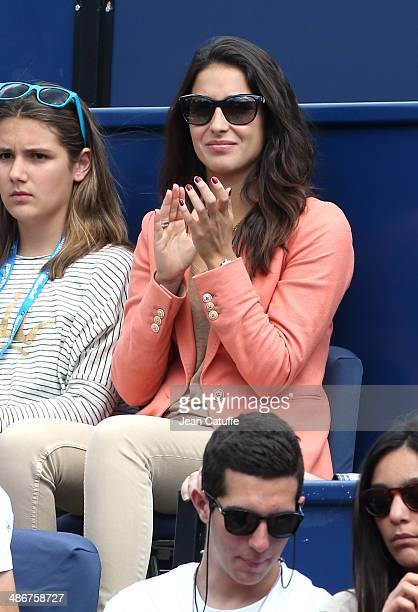 Xisca Perello cheers for boyfriend Rafael Nadal during day five of the ATP Tour Open Banc Sabadell Barcelona 2014 62nd Trofeo Conde de Godo at Real...