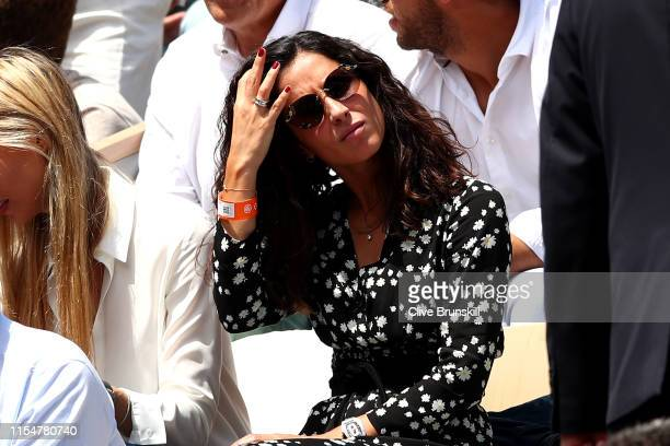 Xisca Perello, Fiancé of Rafael Nadal of Spain watches on during his mens singles final against Dominic Thiem of Austria during Day fifteen of the...
