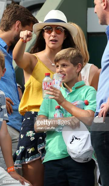 Xisca Perello girlfriend of Rafael Nadal attends his victory on day 15 of the 2017 French Open second Grand Slam of the season at Roland Garros...