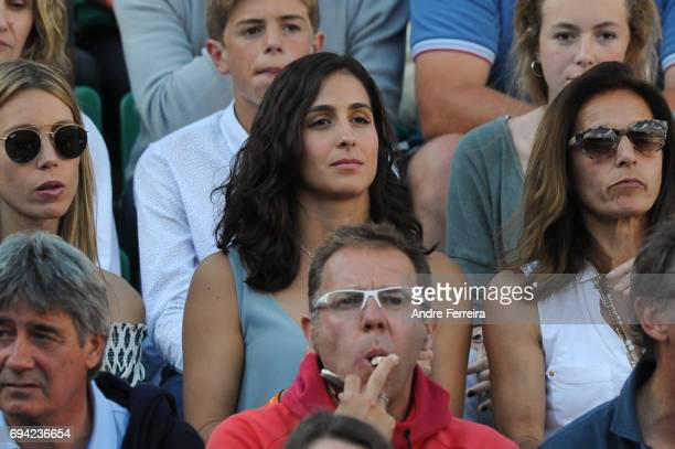 Xisca Perello girlfriend of Rafael Nadal of Spain during the day 13 of the French Open at Roland Garros on June 9 2017 in Paris France