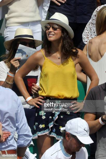 Xisca Perello girlfriend of Rafaell Nadal is pictured inside Court Philippe Chatrier prior to the mens singles final match between Rafael Nadal of...