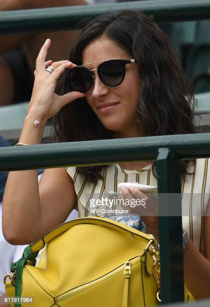 Xisca Perello girlfriend of Spain's Rafael Nadal watches Nadal play against Luxembourg's Gilles Muller during their men's singles fourth round match...