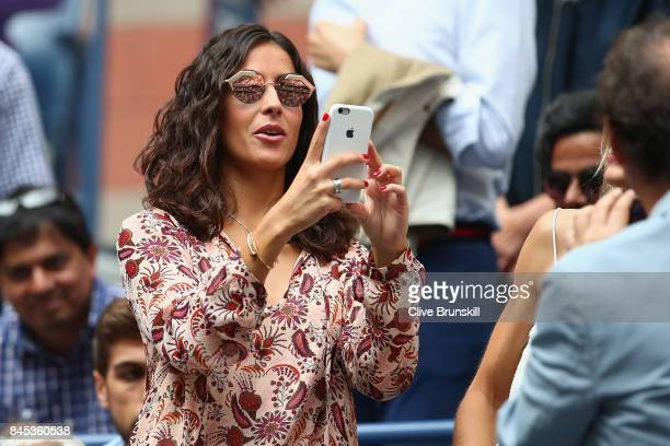 Xisca Perello looks on in the stands before the Men's Singles finals match between Kevin Anderson of South Africa and Rafael Nadal of Spain on Day...