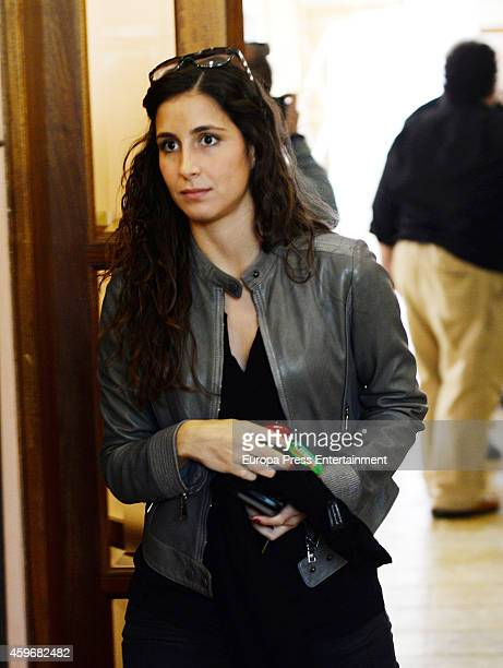 Xisca Perello the girlfriend of Tennis player Rafael Nadal attends the presentation of the charity event Olazabal Nadal Invitational by Pula Golf...