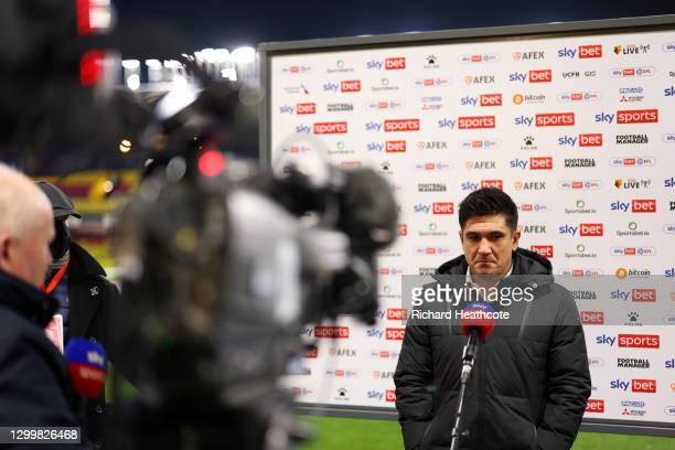 Xisco Munoz, Manager of Watford FC speaks to the media ahead of the Sky Bet Championship match between Watford and Queens Park Rangers at Vicarage...