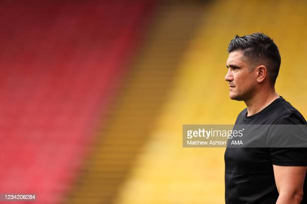 Xisco Munoz the head coach / manger of Watford during the Pre-Season Friendly between Watford and West Bromwich Albion at Vicarage Road on July 24,...