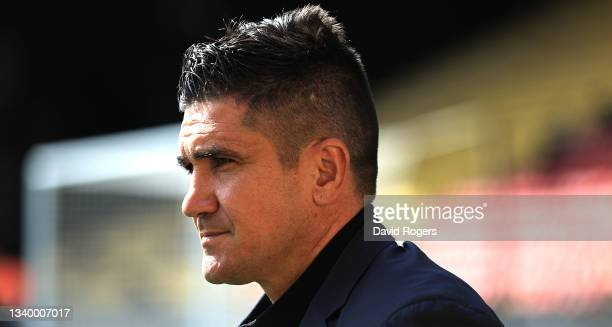 Xisco Munoz, the Watford manager, looks on during the Premier League match between Watford and Wolverhampton Wanderers at Vicarage Road on September...