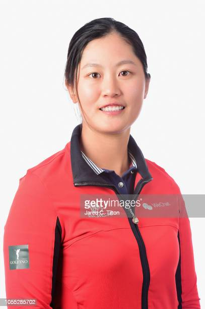 Xiyu Lin of China poses for a portrait during the LPGA Q Series Head Shots session at Pinehurst Resort on October 29 2018 in Pinehurst North Carolina