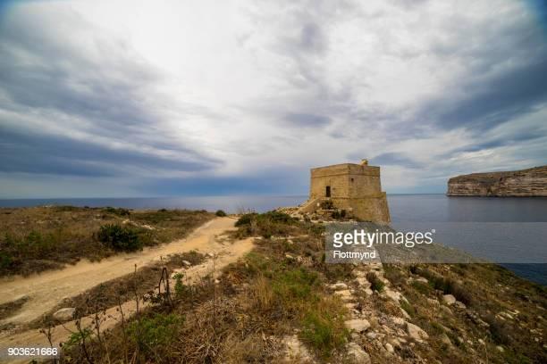 Xlendi Tower on Gozo island, Malta