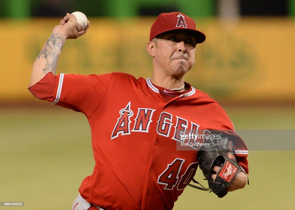 MLB: MAY 26 Angels at Marlins : News Photo
