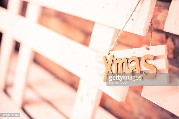 Xmas decoration, vintage style background