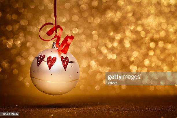 xmas in love - heart month stock photos and pictures