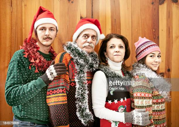 xmas kitsch portrait - kitsch stock pictures, royalty-free photos & images