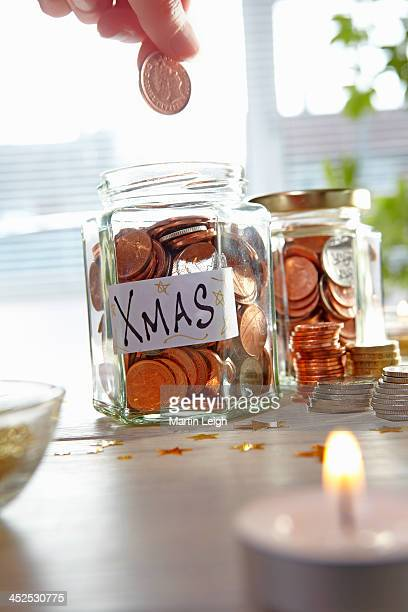 xmas money collection fund - christmas cash stock pictures, royalty-free photos & images