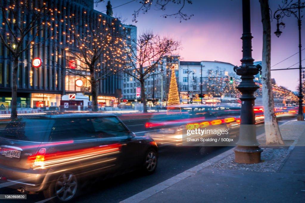 Xmas Traffic : Stock Photo